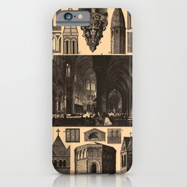 Iconographic Encyclopedia of Science, Literature and Art (1851) - Romanesque and Gothic Architecture iPhone Case