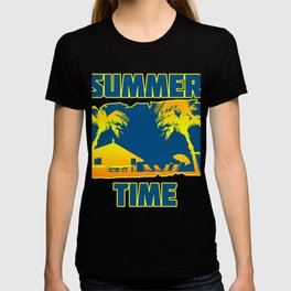 Summertime  Tropical  Trees  Vacation  Beach Gift T-shirt