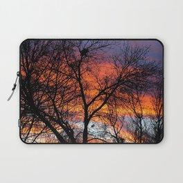 Winter Tree Sunset Laptop Sleeve