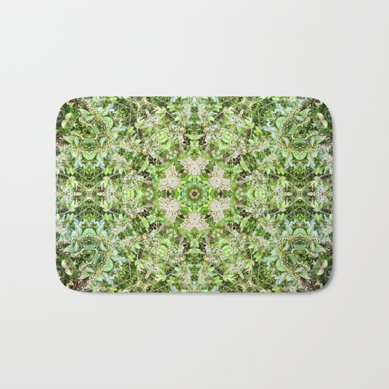 Kaleidoscope of Rainforest Flowers Bath Mat