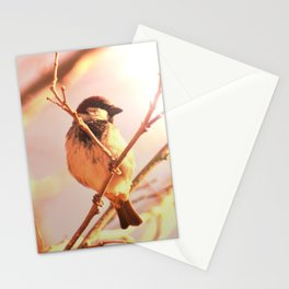 Morning sparrow Stationery Cards