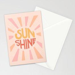 Sunshine Hand Lettering Stationery Cards