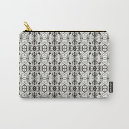 Pewter Gray Print Carry-All Pouch
