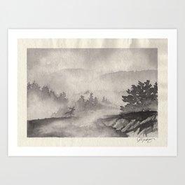 Adirondacks in the Mist Art Print