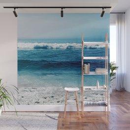 aqua foamy sea Wall Mural