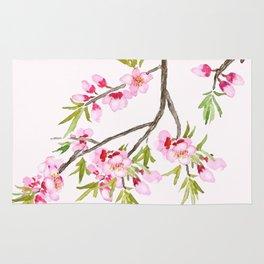pink peach flowers Rug
