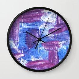 Royal purple abstract watercolor Wall Clock