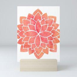 Salmon Mandala Mini Art Print