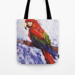 Scarlet Macaw /// by Olga Bartysh Tote Bag
