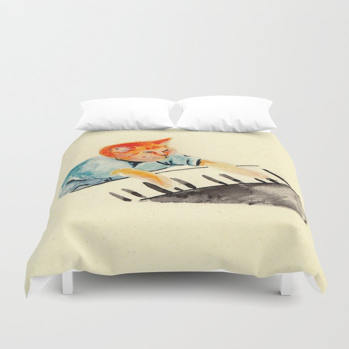 watercolour keyboard Duvet Cover