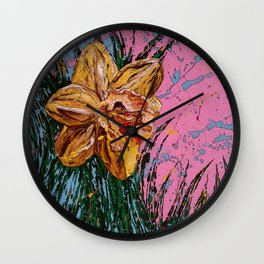 Barbara's flower Remix 1 Wall Clock