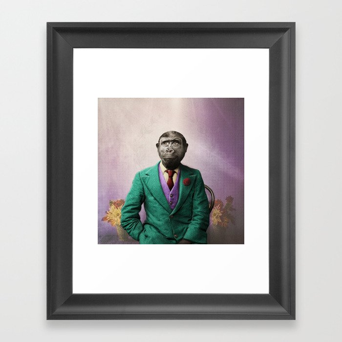 Bradley was a Young Gorilla with BIG Dreams Gerahmter Kunstdruck