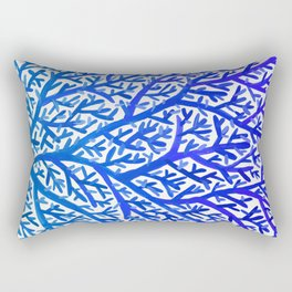 Fan Coral – Blue Ombré Rectangular Pillow