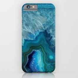 Agate Crystal Slice iPhone Case