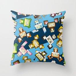 Cute Cartoon Blockimals Animals Pattern Throw Pillow