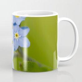 Forget-me-not Flowers On Natural Green Bokeh Background #decor #society6 #buyart Coffee Mug
