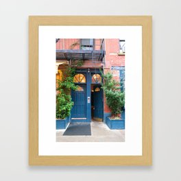 Blue Doors NYC Framed Art Print