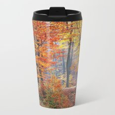 Colorful Autumn Fall Forest Metal Travel Mug
