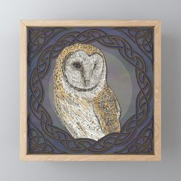 Celtic Owl Framed Mini Art Print