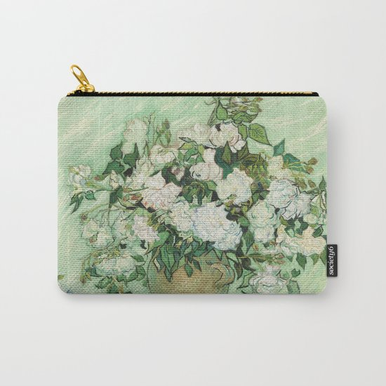 Vase with Pink Roses by Vincent van Gogh Carry-All Pouch