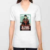 doctor V-neck T-shirts featuring Doctor by Shop 5