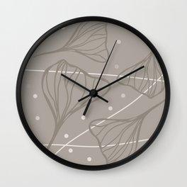 Ginkgo Truffle Wall Clock