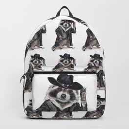 """ Raccoon Bandit "" funny western raccoon Backpack"