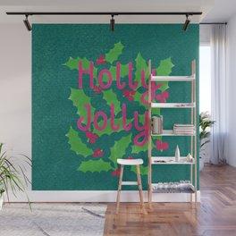 Holly Jolly Wall Mural