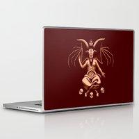 baphomet Laptop & iPad Skins featuring Weeping Baphomet by Dinosir