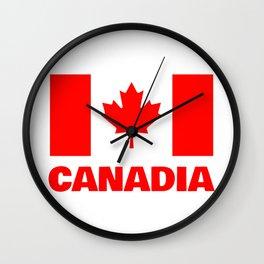 Canadia - Canadan Flag Wall Clock
