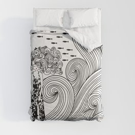 Waves. Deco. Pattern. Home decoration Comforters