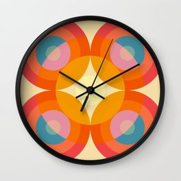 Gwyddno - Colorful Abstract Blossom Art Wall Clock