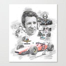Mario Andretti Canvas Print