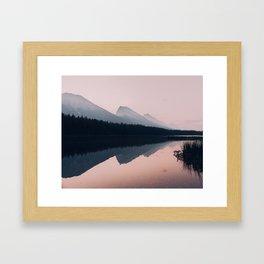 Sunrise reflection in Banff Framed Art Print