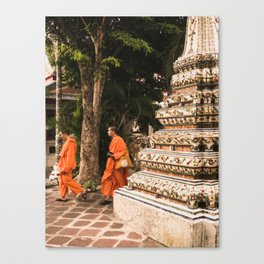 Monks in motion. Canvas Print
