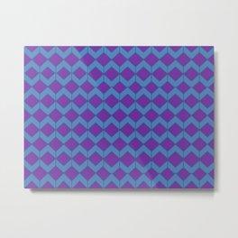 Purple Blue Moroccan Tile Pattern Metal Print