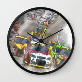 NASCAR Racing Wall Clock