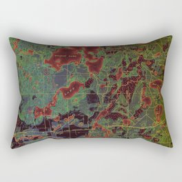 Pillager old map year 1916, american old maps Rectangular Pillow