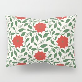 Vintage Floral in Red and Green Pillow Sham