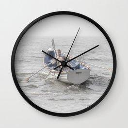 Row, Jersey Shore Wall Clock
