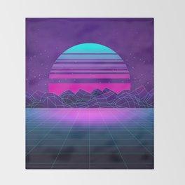 Future Sunset Vaporwave Aesthetic Throw Blanket