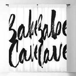 Babe Cave Bold Script Blackout Curtain