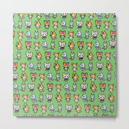 Animal Crossing Design 1 Metal Print