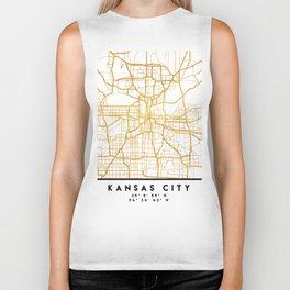 KANSAS CITY MISSOURI CITY STREET MAP ART Biker Tank