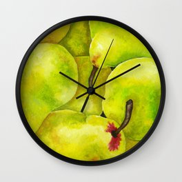 Fresh Pears Wall Clock