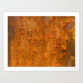 Abstract Rust Wall Art Print