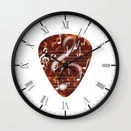 Treble Cleff Plectrum Wall Clock