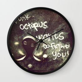 Drunk Octopus (confessions of a stall) Wall Clock