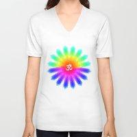 ohm V-neck T-shirts featuring Ohm by AmeliaDarland