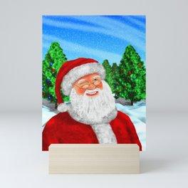 Winking Santa Mini Art Print
